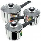 Judge Vista Stainless Steel Draining 3 Piece Pan Set